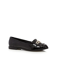 The Collection - Black patent chain detail loafers