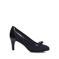 The Collection - Navy bow court shoes