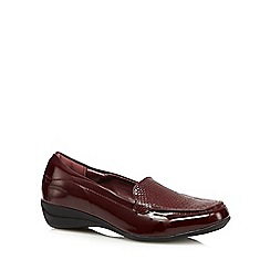 The Collection - Dark red reptile patent loafers