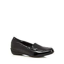 The Collection - Black reptile patent loafers
