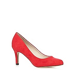 The Collection - Red suedette mid court shoes