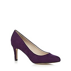 The Collection - Purple suedette mid court shoes