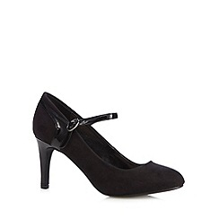 The Collection - Black suedette high court shoes