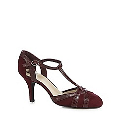 The Collection - Wine snake t-bar high court shoes