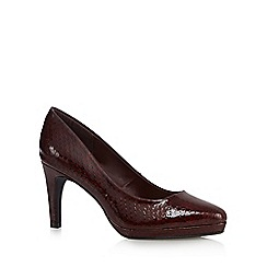 The Collection - Red patent high platform court shoes
