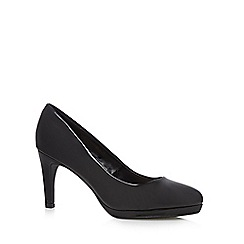 The Collection - Black patent high platform court shoes