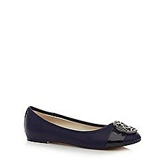 The Collection - Navy disc toe pumps