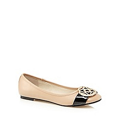 The Collection - Light tan charm slip-on shoes