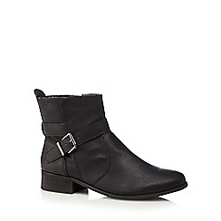 The Collection - Black side zip boots