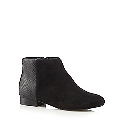 The Collection - Black snakeskin heel ankle boots