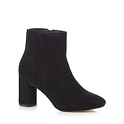 The Collection - Black suedette mid ankle boots