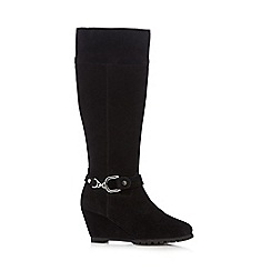 The Collection - Black suede high leg boots