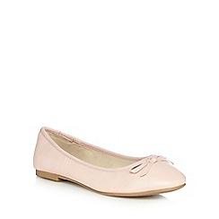 The Collection - Pink bow slip on shoes