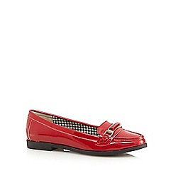 The Collection - Red patent buckle slip on shoes