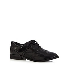 The Collection - Black patent brogues