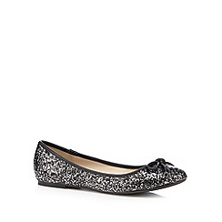 Debut - Black glitter flat pumps