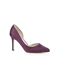 Debut - Purple embellished mid court shoes