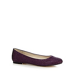 Debut - Purple rhinestone satin pumps