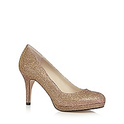 Debut - Rose glitter high court shoes