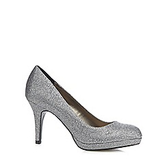 Debut - Silver glitter high court shoes