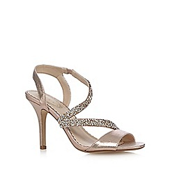 Debut - Gold glitter embellished high sandals