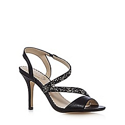Debut - Black glitter embellished high sandals