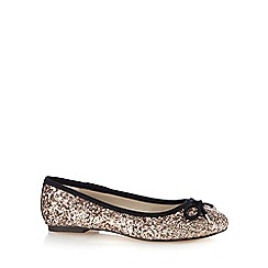 Debut - Gold glitter pumps