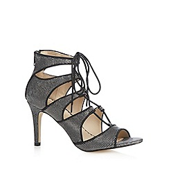 Debut - Dark grey lace up glitter high sandals