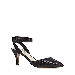 Debut - Black glitter embellished mid court shoes