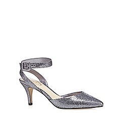 Debut - Silver glitter embellished mid court shoes