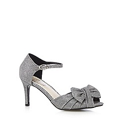 Debut - Dark grey embellished bow mid sandals