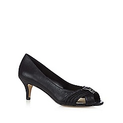 Debut - Black peep toe bead embellished court shoes