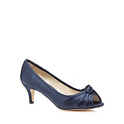 Debut - Navy knot wide fit court shoes