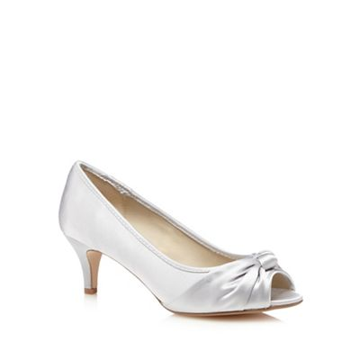 Debut Silver knot wide fit court shoes