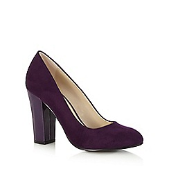 Red Herring - Purple suedette high court shoes