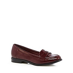 Red Herring - Dark red patent slip on loafers