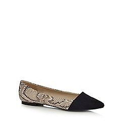 Red Herring - Natural snake print slip on shoes