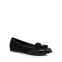 Red Herring - Black tasselled loafers