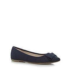 Red Herring - Navy bow flat shoes