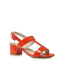 Red Herring - Orange patent mid-heeled sandals