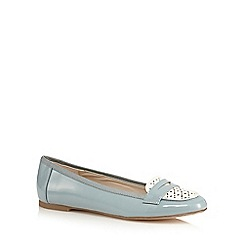 Red Herring - Light blue patent cut-out slip-on shoes