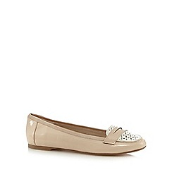 Red Herring - Light pink patent cut-out slip-on shoes