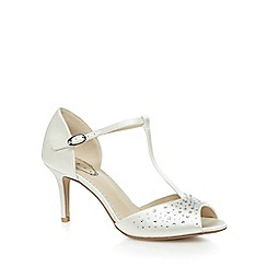 Debut - Ivory diamante peep toe sandals