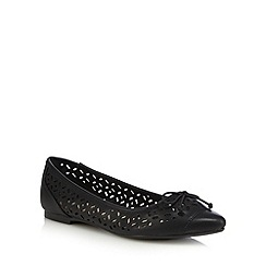Red Herring - Black cut-out slip-on shoes