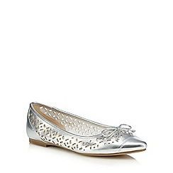 Red Herring - Silver cut-out slip-on shoes