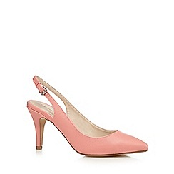 Red Herring - Coral pointed mid court shoes