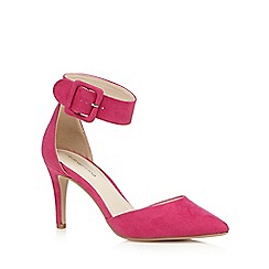 Red Herring - Pink pointed mid court shoes