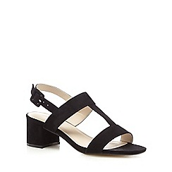 Red Herring - Black suedette mid-heeled sandals