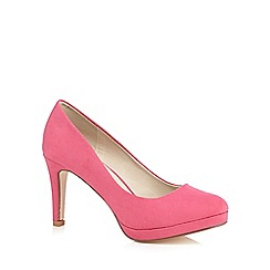 Red Herring - Pink suedette court shoes