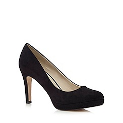 Red Herring - Black suedette high court shoes